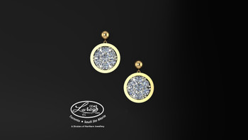 This simple, fashionably framed 11mm outside round, two part design accentuates a crafted reflective center setting supporting .42 ct of hand selected brilliant diamonds. Hand selected by experts for their brilliance, rich color and eye catching appeal.  We believe as you do …  Be it; birthday, anniversary or just because… she deserves the best.  Your choice of 10 or 14K gold, white, yellow or two tone.