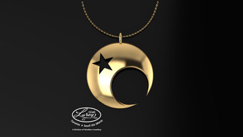 The star crescent was also found in Greece where it was used to represent the moon goddesses, Luna and Diana. The crescent is pointed upward and the star is directly above the moon. It was a symbol of virginity and female chastity.