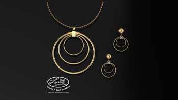 Circles within circles, the cycles of life....Simply design can say so much.  A special gift for any occasion that can at your request genuine brilliant diamonds or sparkling gemstones...  Versatility and function as  an anniversary or family pendant...giving it a personal touch.     She deserves the best...
