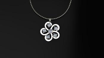 Buttercup- Diamond- Pendant