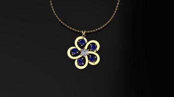 Buttercup- Blue Sapphire- Pendant