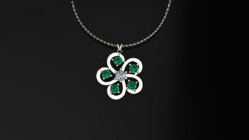 Buttercup- Emerald-Pendant
