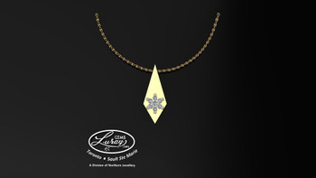 Simplicity of design can say so much.  A special gift for any occasion that can at your request genuine brilliant diamonds or sparkling gemstones...  Versatility and function given the personal touch.     She deserves the best...     Price is for pendant only, Chain not included, ask for an estimate