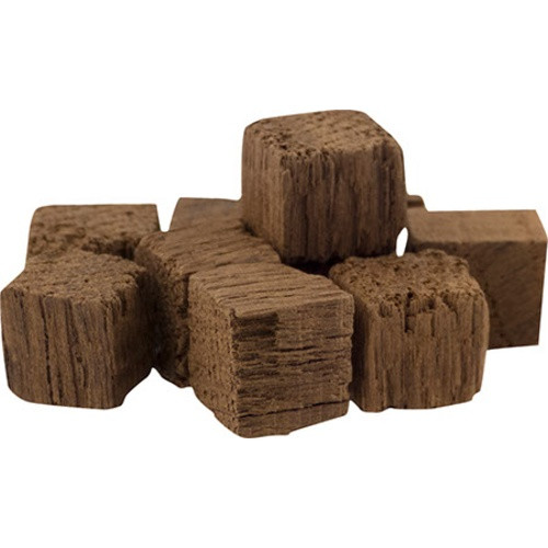 Convection toasted Oak Cubes made in the US from American Oak.  These Oak Cubes impart similar flavors as the equivalent oak type and toast level chip, but extract more slowly giving you more control over the final impact in your beer.  These cubes are produced from staves of American oak that have been air-seasoned for 18-24 months, then toasted to a Medium Toast. They will add a sweet, butterscotch note with a hint of bourbon char to your beer.  Suggested dosage is 2-4 oz per 5 gallons of beer.  California Recipients: WARNING: Cancer - www.P65Warnings.ca.gov