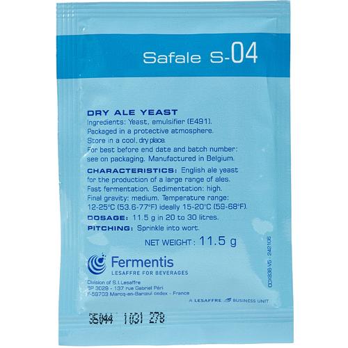 Safale S-04 English Ale Yeast - Fermentis