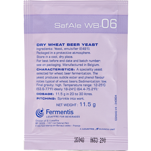 Safale WB-06 Wheat Beer Yeast - Fermentis