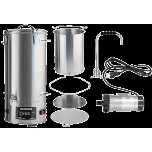 DigiMash All-Grain Electric Brewing System w/ Recirculation Pump Kit - 35L/9.25G (110V