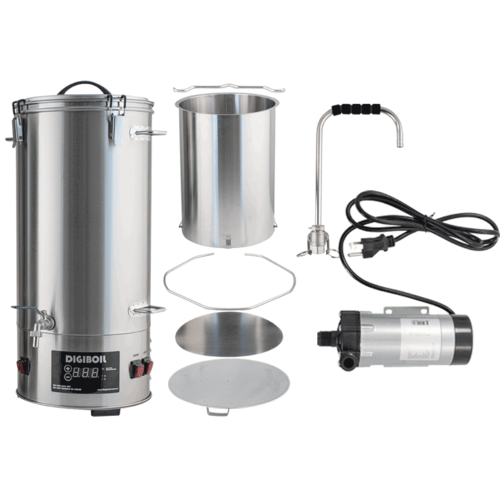 DigiMash All-Grain Electric Brewing System w/ Recirculation Pump Kit - 35L/9.25G (220V)