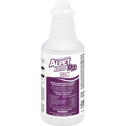 Alpet® D2 Surface Sanitizer - 1 qt. Refill Bottle