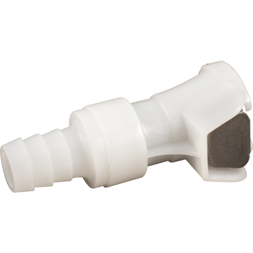 """Beer & Gas Tubing Quick Disconnect - 3/8"""" Barb x Female Shut-off"""
