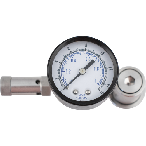 Ball Lock Spunding Valve (w/ Pressure Gauge)