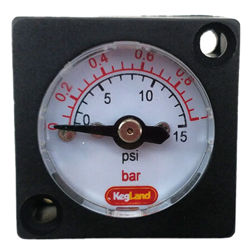 Mini Pressure Gauge (0-15 psi)