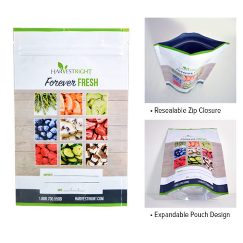50-pack Resealable Mylar Bags
