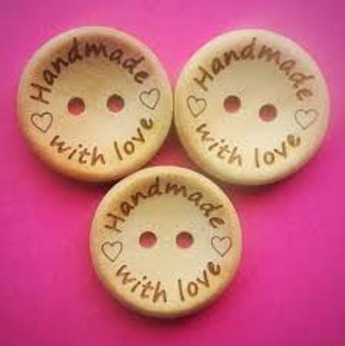 houten knoopje 25 mm