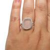 Light Pink Organic Sea Glass Ring - Size 9