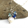 Pearl Cluster Sea Glass Necklace