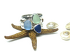 Set of 3 Sea Glass Stack Rings