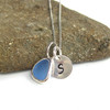 Initial Sea Glass Necklaces