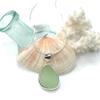 Seafoam Drop Sea Glass Necklace