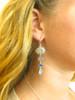 Beautiful Blues Four Stone Captain's Wheel Earrings