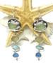 Seafoam Sunshine Four Stone Captain's Wheel Earrings
