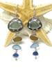 Amber Ocean Four Stone Captain's Wheel Earrings