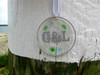 Wedding Monogram - Sea Glass Sun Catcher Ornament