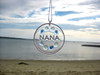 Nana Sea Glass Sun Catcher Ornament