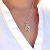 Initial Sea Glass Starfish Charm Necklace