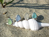 Split Band Sea Glass Ring - You choose the color!