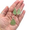 Seafoam Large Sail Sea Glass Necklace & Earring Set