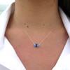3 Stone Simple Sea Glass Necklace