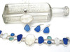 Majestic Blues Carved Mother of Pearl and Lapis Sea Glass Set