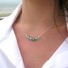 5 Stone Sea Glass Beaded Necklace