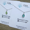 Mermaid Tribe Sea Glass and Sterling Silver Bezel Wrap Charm
