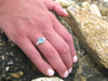 Azurine - Sea Glass Mother's Ring