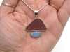 Plum Sea Glass and Opal Necklace