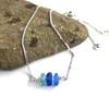 Adjustable 3 Stone Sea Glass Bracelet