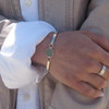Bezel Set Hinge Bangle Bracelet