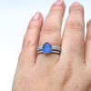 Mermaid Magic Sea Glass Engagement Ring