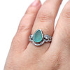 Divinity Sea Glass Engagement Ring