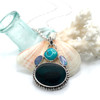 Teal Ultra Rare Turquoise & Opal Sea Glass Necklace