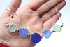 Cobalt Breeze Sea Glass Bar Necklace