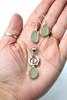 Seafoam Ocean Swirl Sea Glass Necklace and Earrings Set