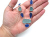 Aqua Blues Sea Glass and Sterling Necklace