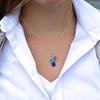 Cascade 3 Drop Sea Glass Necklace