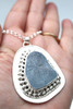 Gray Galaxy Embossed Enchantress Sea Glass Necklace