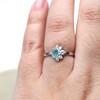 Coastline Sea Glass Engagement Ring