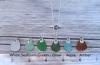 Ocean Swirl Bail Sea Glass Necklace