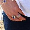 Voyager Silver & Gold Sea Glass Ring